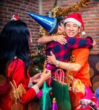 Christmas and new year party. With friends Royalty Free Stock Image