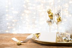 Christmas new year party with gift present copy space backgroun royalty free stock photography