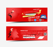 Christmas & New Year Party Web Banner Stock Photos