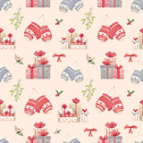 Christmas new year pattern Royalty Free Stock Images