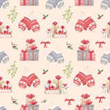 Christmas new year pattern Royalty Free Stock Photo