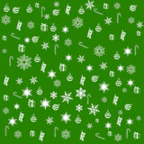 Christmas and new year pattern. Christmas elements on a colored background. Christmas and new year pattern. Christmas elements on a colored background Stock Images