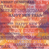Christmas and New Year pattern on navajo style background Stock Images