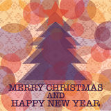 Christmas and New Year pattern on navajo style background Stock Image