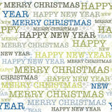 Christmas and New Year pattern on navajo style background Stock Photo