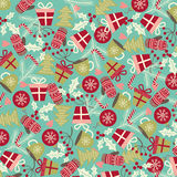 Christmas and New Year pattern. Winter holiday. Stock Photo