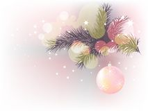 Christmas and New Year postcard Stock Images