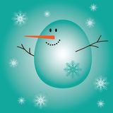 Christmas and New Year postcard with a Snowman. Vector illustration vector illustration