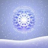 Christmas and new year postcard. Vector postcard for christmas and new year Royalty Free Stock Photography