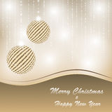 Christmas and new year postcard Royalty Free Stock Photos