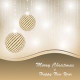 Christmas and new year postcard. Vector christmas and new year postcard Royalty Free Stock Photos