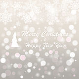 Christmas and new year postcard. Vector silver christmas and new year postcard Royalty Free Stock Photography