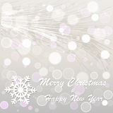 Christmas and new year postcard. Vector snowy postcard for christmas Royalty Free Stock Photo