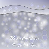 Christmas and new year postcard. Vector snowy christmas and new year postcard Stock Images