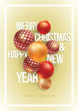 Christmas and New Year Poster Design Royalty Free Stock Photo