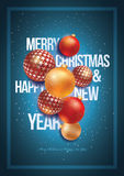 Christmas and New Year Poster Design Royalty Free Stock Photos