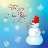 Christmas and New Year, poster design with snowman Royalty Free Stock Images