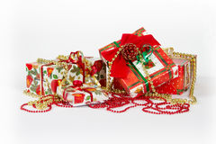 Christmas and New Year presents Stock Photos