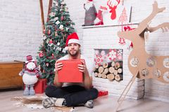 Christmas and new year presents preparation Royalty Free Stock Images