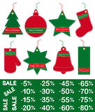 Christmas and New Year price tags Royalty Free Stock Photos