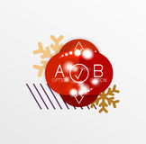 Christmas or New Year promo labels and stickers Stock Image