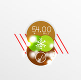 Christmas or New Year promo labels and stickers Stock Images