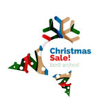 Christmas and New Year promotion banner design. Geometric design winter elements with copyspace Royalty Free Stock Photography