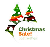 Christmas and New Year promotion banner design Stock Photography