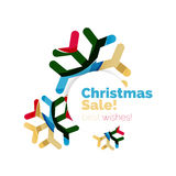 Christmas and New Year promotion banner design. Geometric design winter elements with copyspace royalty free illustration