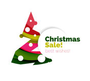 Christmas and New Year promotion banner design Royalty Free Stock Photos