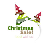 Christmas and New Year promotion banner design. Geometric design winter elements with copyspace stock illustration