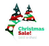 Christmas and New Year promotion banner design. Geometric design winter elements with copyspace Stock Photography