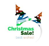 Christmas and New Year promotion banner design. Geometric design winter elements with copyspace Stock Photos