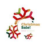 Christmas and New Year promotion banner design. Geometric design winter elements with copyspace Royalty Free Stock Image