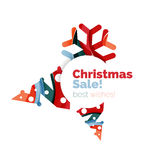Christmas and New Year promotion banner design. Geometric design winter elements with copyspace Royalty Free Stock Photos