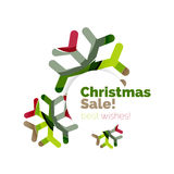 Christmas and New Year promotion banner design Stock Images