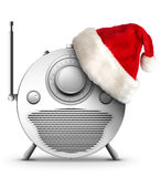 Christmas and New Year Radio. Old Style Radio Christmas and New Year Radio Style. Computer Designe, 2D Graphics stock illustration
