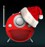 Christmas and New Year Radio. Old Style Radio Christmas and New Year Radio Style. Computer Designe, 2D Graphics vector illustration