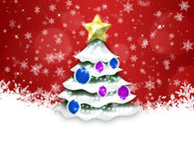 Christmas and New Year red background Stock Photography