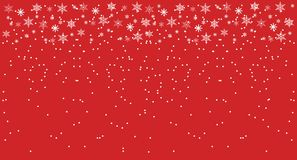 Christmas and New Year Red Background with snowflakes. Flat Illustration. Christmas and New Year Red Background with snowflakes. Flat Vector Illustration stock illustration