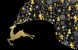 Christmas new year reindeer gold low poly holiday Stock Photo