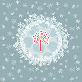 Christmas and New Year round frame with firework symbol. Greeting card. Stock Photo