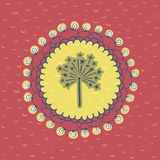 Christmas and New Year round frame with firework symbol. Greeting card. Stock Image