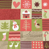 Christmas and New Year's background. In style of patchwork royalty free illustration