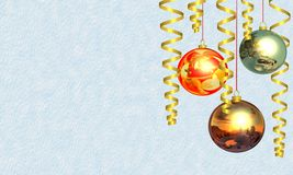 Christmas and New Year's background Stock Images
