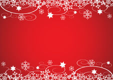 Christmas / New Year's Background (Red) Stock Images