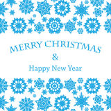 Christmas and New Year's background with snowflakes Stock Images