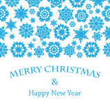 Christmas and New Year's background with snowflakes Royalty Free Stock Photos