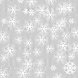 Christmas and New Year's background. White snowflakes on a knitted background stock illustration