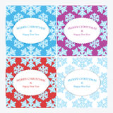 Christmas and New Year's backgrounds with snowflakes. Print of snowflakes .Christmas and New Year banners Stock Photography